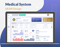 UI/UX Design For Web Medical System | analytics & Data