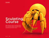 Sculpting course - website design project