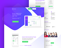 RealSchedule Landing page design