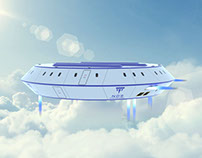 UFO shape future aircraft