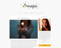 Blog layout and branding | O Armazem de Ideias