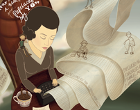 Ilustraciones de Mujeres Chilenas Importantes