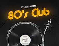 80s Club Flyer