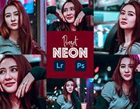 Neon Effect Photoshop Preset