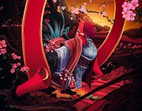 "丁酉年-""一鸣惊人""鸡年手机壳插画/武减武x二川井联合rooster in illustrations"