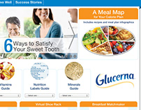 Glucerna Landing Page Art Direction & Graphic Design