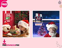 Christmas Social Media PSD Template Set