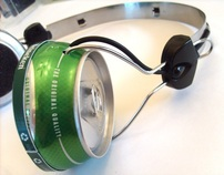 heineken Can Headphones