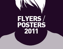 Posters & flyers designed for clubbing events in 2011