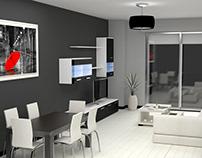 Diseño Salón 3d