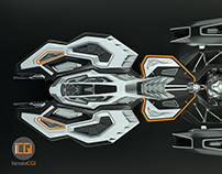 3D Spaceship concept