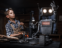 Child and robot - Color and Retouch