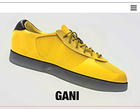 GANI - Lux Sneaker Brand identity and Visuals