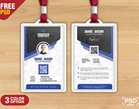 Designer Office Identity Card PSD Template