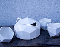 Geometric Japanese tea set / Juego de té japones