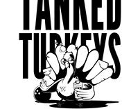 Tanked Turkeys T-shirt design