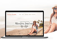 UX and UI Website design for a travel blogger