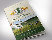 Charity Golf Tournament Brochure Template - Word and P