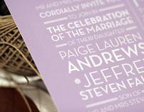 Paige + Jeff Wedding System