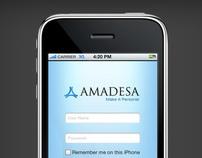 iPhone App: Amadesa's self service application