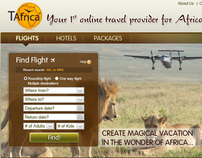 Web Design: TAfrica - Tourism service in Africa