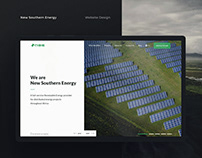 New Southern Energy Website Design