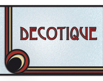 Decotique logo and stationery