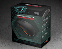 Fictitious Packaging for a Gaming Mouse