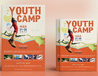 Youth Camp Flyer Poster Template
