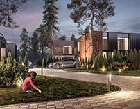 Birutes parko vilos exterior & interior CGI