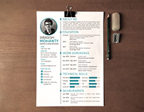 Simple Resume   Free Download   PSD available