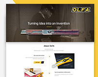 OLFA web design UX/UI