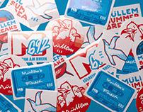 """""""Müllem Summer Breaks"""" Stickers"""