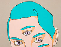 Five lilac eyes