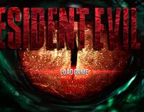 Resident Evil 2 menu remake