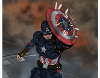 Captain America (Civil War) Digital Illustration