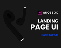 Black AirPods Landing Page