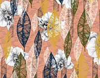 'Orchid dreaming' pattern design