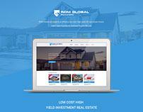 RDM Global real estate listing website design
