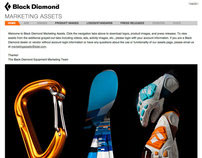 Black Diamond Equipment Marketing Assets Website