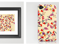 illustrated prints and iphone cases on society6