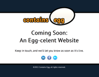 Contains Egg (holding page)