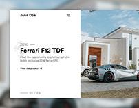 Automotive Photography Portfolio Website