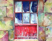 Old Farm Window