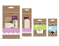 Series of packages for tools for scrapbooking