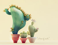 """a trio of cacti"""