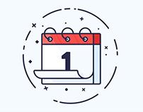 A Calendar Line Art Icon