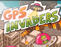 GPS Invaders - Mobile Game graphic design