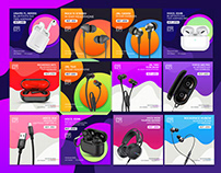 Gadgets Web banner - Earphone Social Media Banner