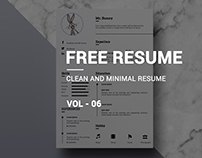 Free Minimal Resume